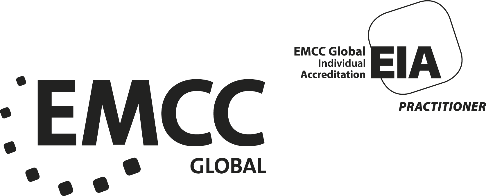 EMCC accreditation - logo - EIA+EMCC - black on white - P